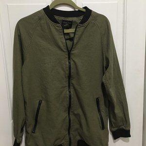 Love Tree Long Linen Zippered Jacket